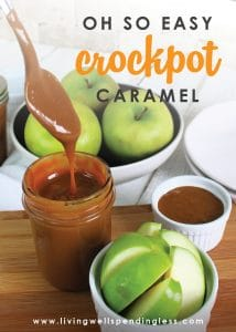 You seriously won't believe how easy it is to make this delicious dulce de leche style caramel! Just one ingredient + a crockpot is all you need. Perfect for recipes, ice cream, or as an apple dip!
