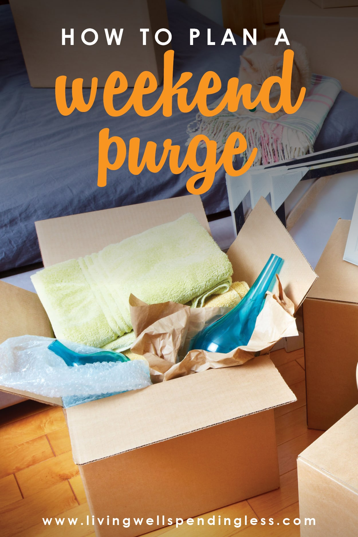 Want to kick-off your New Year with a Clean slate? Why not dedicate a weekend to clearing the clutter and getting unstuffed for good? Here's how to plan a weekend purge from start to finish!