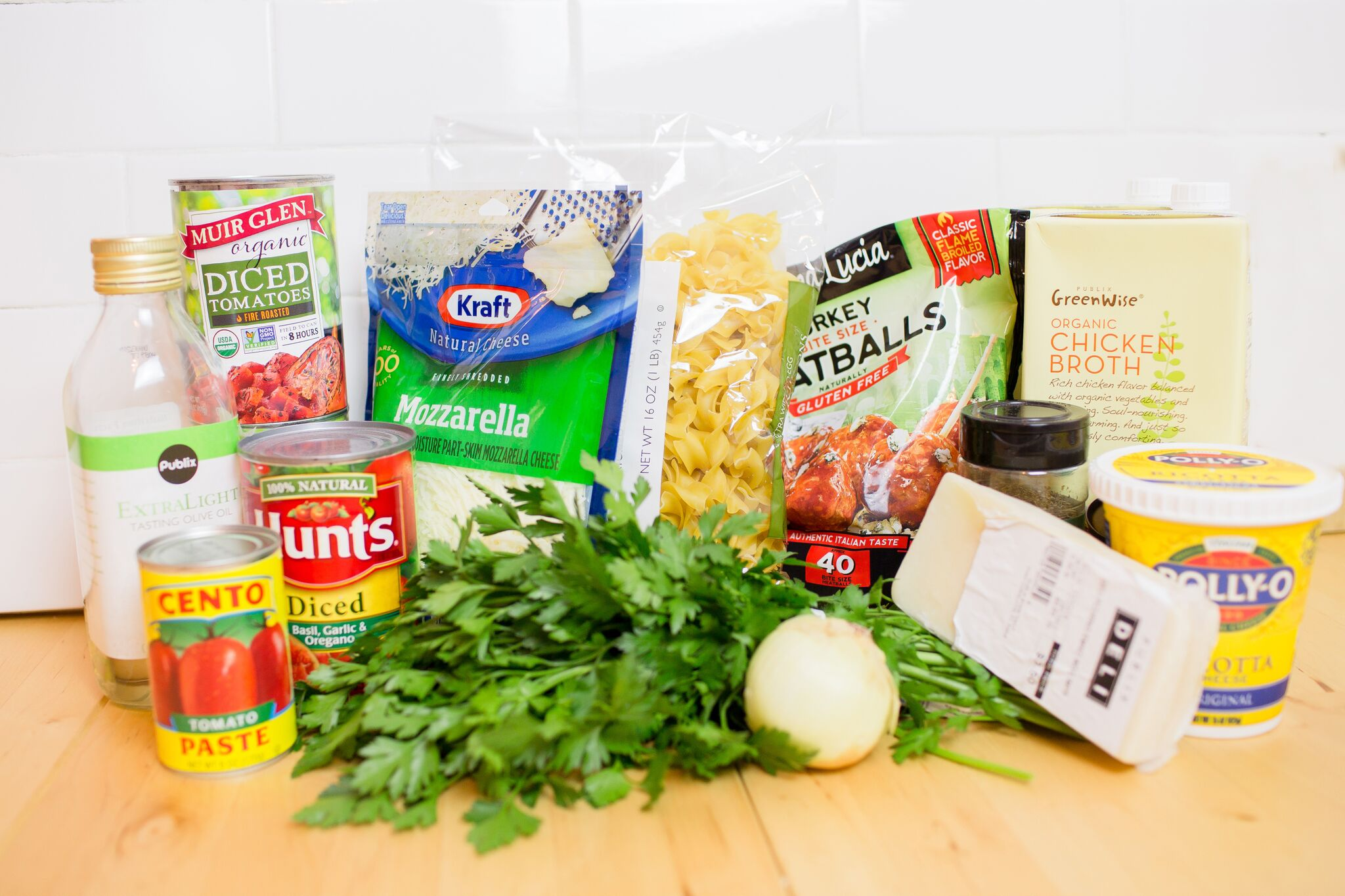 Ingredients for Easy Lasagna Soup-Looking for a hearty meal that the whole family will love? This Lasagna Soup recipe tastes great, uses simple, easy-to-find ingredients, and can be made in an hour or less! Did we mention it's a perfect recipe for the Instant Pot too?