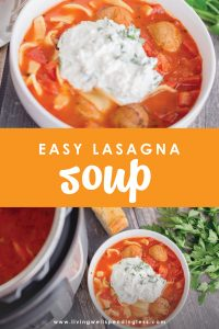 Looking for a hearty meal that the whole family will love? This Lasagna Soup recipe tastes great, uses simple, easy-to-find ingredients, and can be made in an hour or less! Did we mention it's a perfect recipe for the Instant Pot, too?