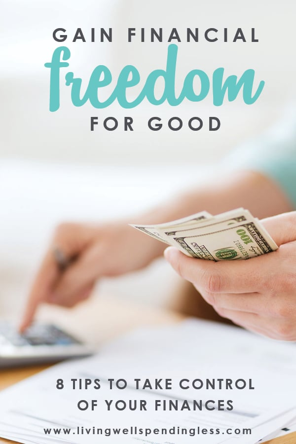 Do your financial goals feel too far away? They're not impossible! These 8 tips helped me get out of debt and gain financial freedom for good.