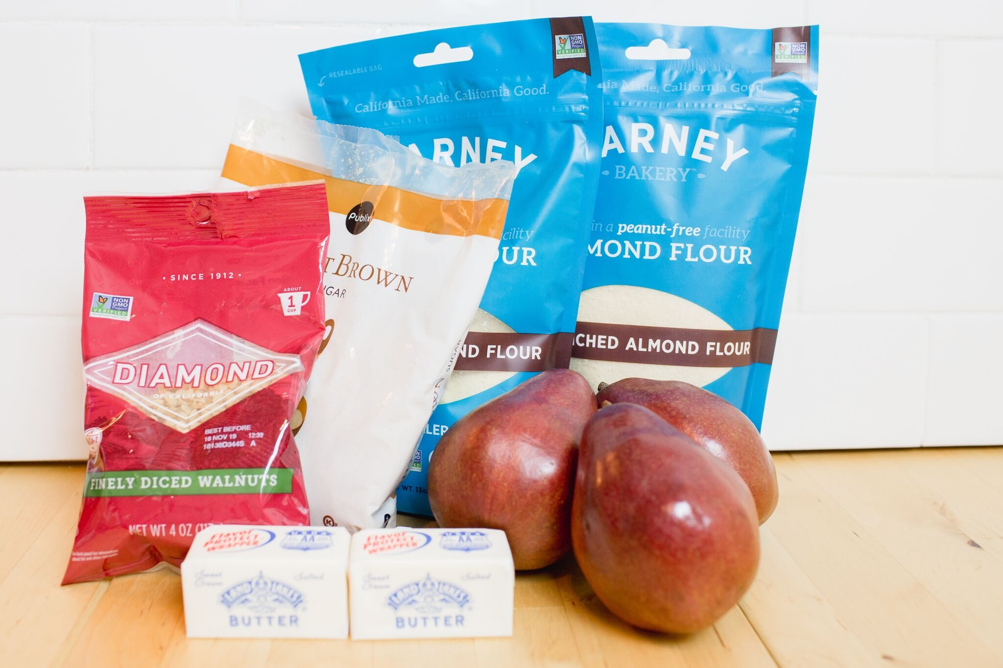 Ingredients needed for our Easy Pear Tart