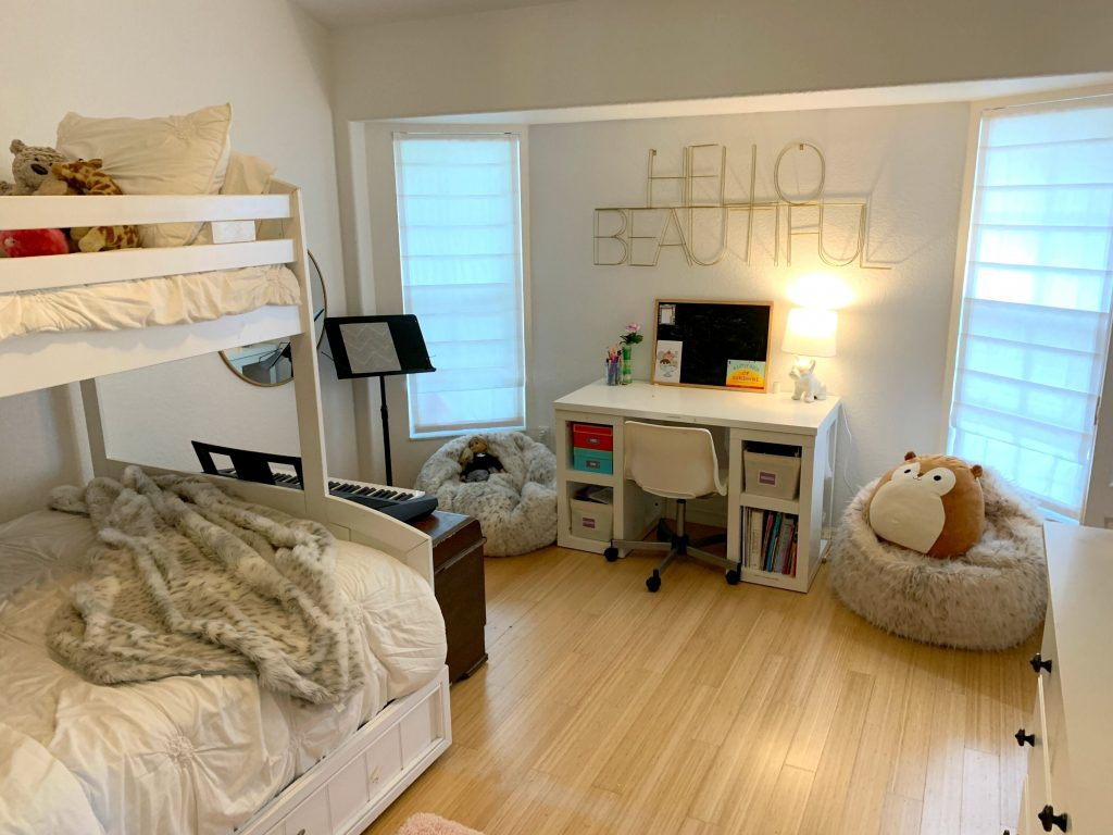 Maggie's room all clean and organized. Ever feel like your mess has gotten to the point of no return? It might be time to get some help with all that decluttering! Don't miss these three surprising lessons from hiring a professional organizer. Decluttering | Organizing | Hiring a Professional Organizer | Marie Kondo