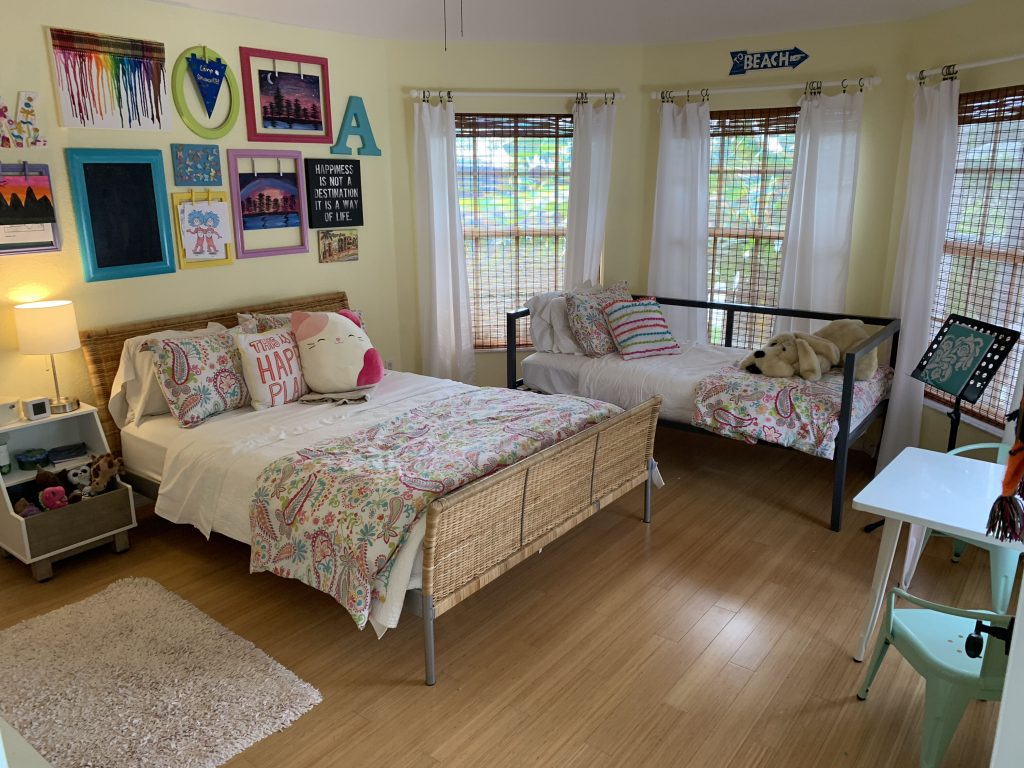 Annie's room all organized and clean. Don't miss these three surprising lessons from hiring a professional organizer. Decluttering | Organizing | Hiring a Professional Organizer | Marie Kondo