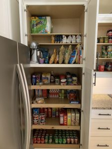 After of the kitchen pantry. Ever feel like your mess has gotten to the point of no return? It might be time to get some help with all that decluttering! Don't miss these three surprising lessons from hiring a professional organizer. Decluttering | Organizing | Hiring a Professional Organizer | Marie Kondo