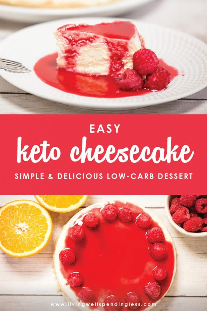 This Easy Keto cheesecake is the perfect dessert for spring and summer. Bonus it is made in the Instant Pot. Which means no need to turn on the oven!