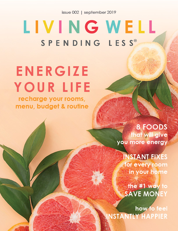 Fall is in the air, and our September Issue is all about adding fresh energy to our life, from all the different angles! Our articles this month are focused on finding ways to recharge your rooms, your menu, your budget and your routine so that you can feel more productive and less overwhelmed. #productivity #budgeting #recipes #home #diy