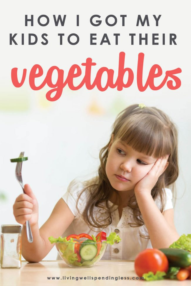 Do picky eaters and meal-time meltdowns make dinner super stressful? Here's how I get my kids to eat vegetables, and you can too. Dinner time struggles can be a thing of the past by adopting these easy rules. #parenting101 #promotehealthyeating