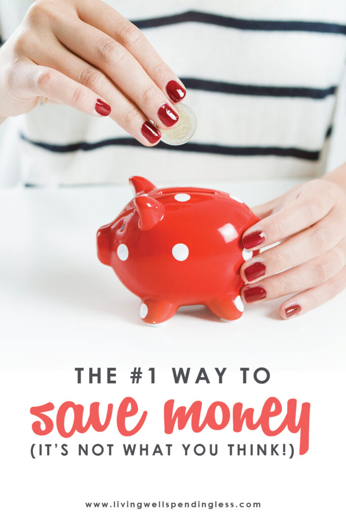 Is there really a tried and true way to save more money? By changing just one simple thing in my life, I've figured out the #1 way to save money!#savemoney #budgeting #money #finances #budget