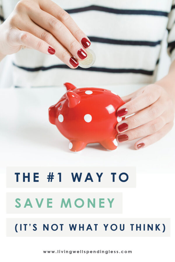 Is there really a tried and true way to save more money? By changing just one simple thing in my life, I've figured out the #1 way to save money! #savemoney #budgeting #money #finances #budget