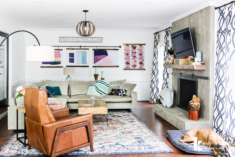 Adding pops of color and mixing up your furniture is a great way to add dimension and texture