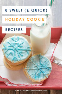Whether you make them for your next holiday party or as gifts, cookies are a big part of the holiday season. Here are seven of our favorite sweet and quick holiday cookie recipes! #recipes #cookierecipes #holidayrecipes #dessertrecipes #easyrecipes #christmasrecipes #thanksgivingrecipes