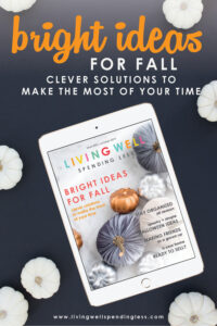 The leaves are falling, and our October Issue is all about finding bright ideas for fall! Our articles this month are focused on finding clever solutions for your home, relationships, and finances so that you can feel more productive and less overwhelmed. #fall #autumn #october #hometips #relationshiptips #financialtips #moneytips #relationships #fallinspiration #homeinspiration #recipes #ketorecipes