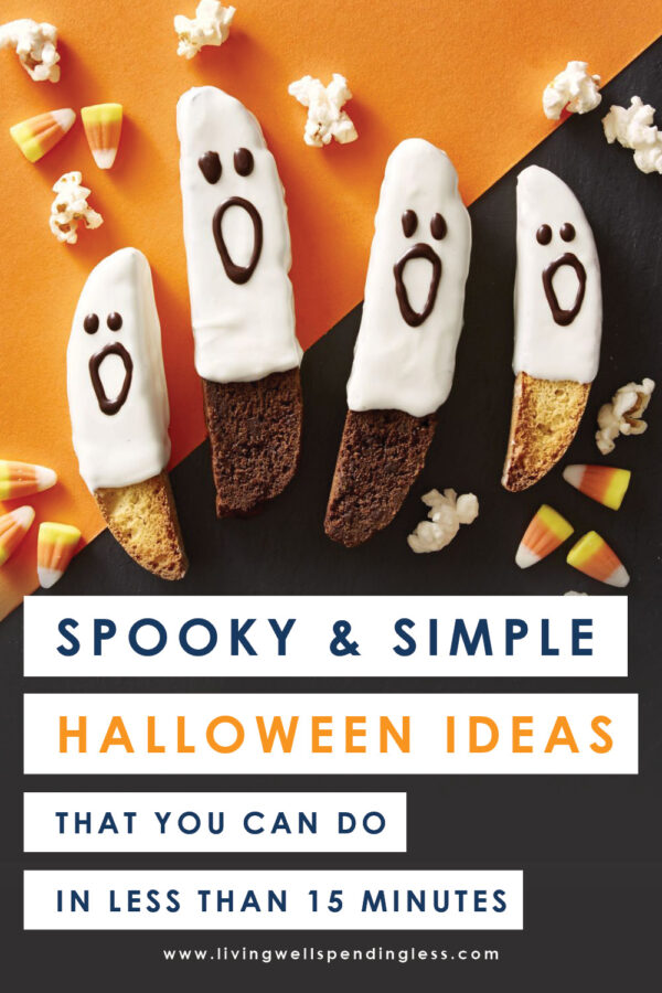 No time for Halloween? No worries--we've got you covered! Don't miss these fun ideas for everything from food to decorations to easy-to-pull-together costumes, all that can be done in 15 minutes or less!