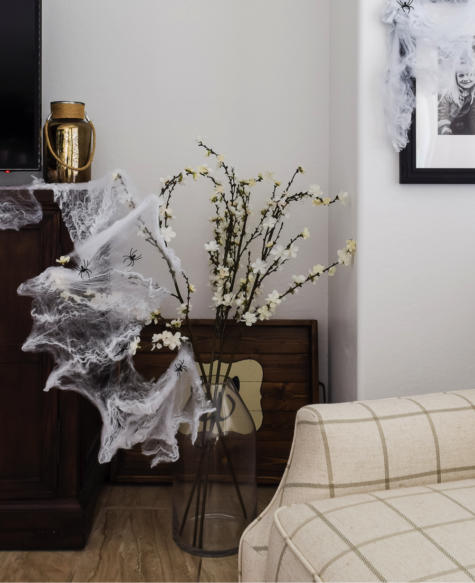 Fun spider webs that you can add anywhere.