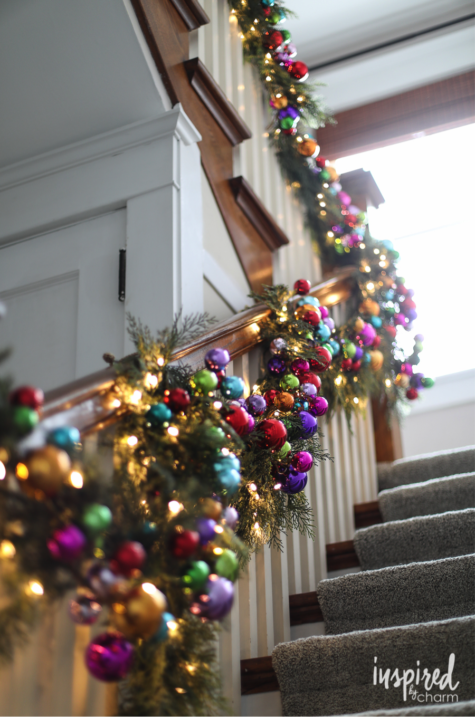 More fun garland tips for your staircase