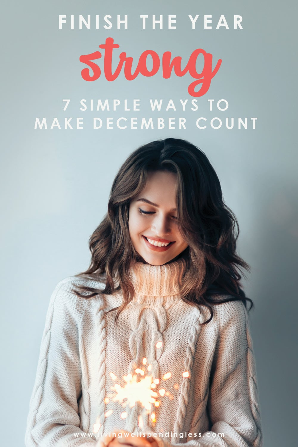 End of the year leave you feeling defeated, stressed out, and overwhelmed? Here are 7 simple ways to finish the year strong! #holidays #productivity #mindset #positivity #timemanagement #timemanagementtips #productivitytips