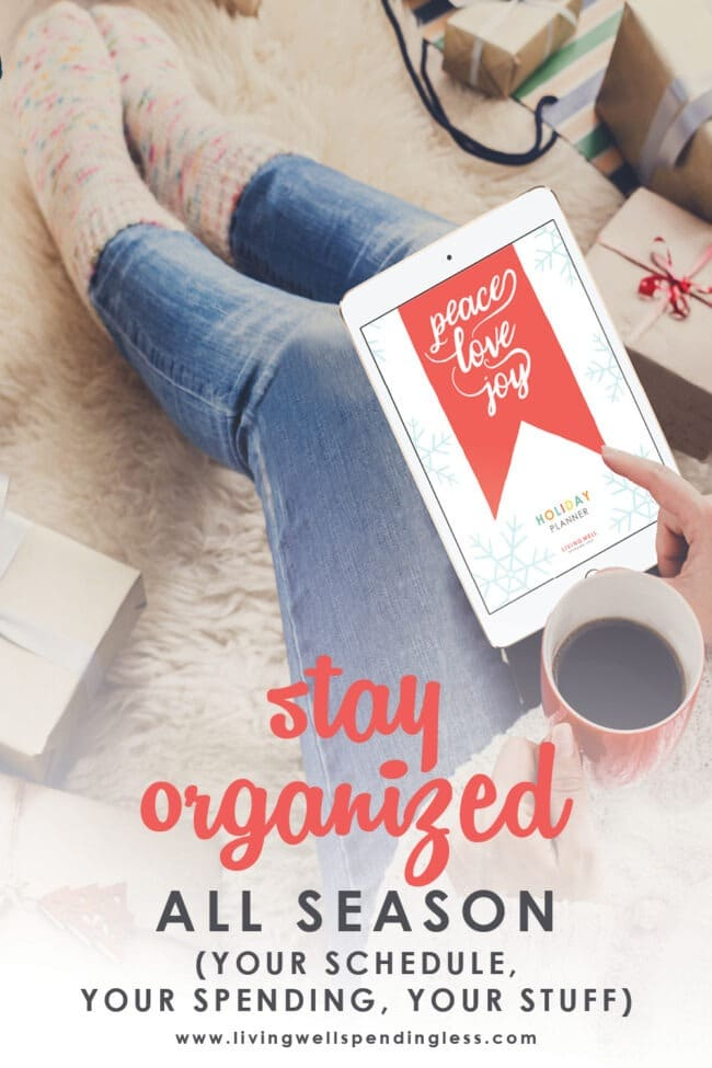 Looking for less stress and more joy this holiday season? These 7 helpful tips will help you stay organized all holiday season long!