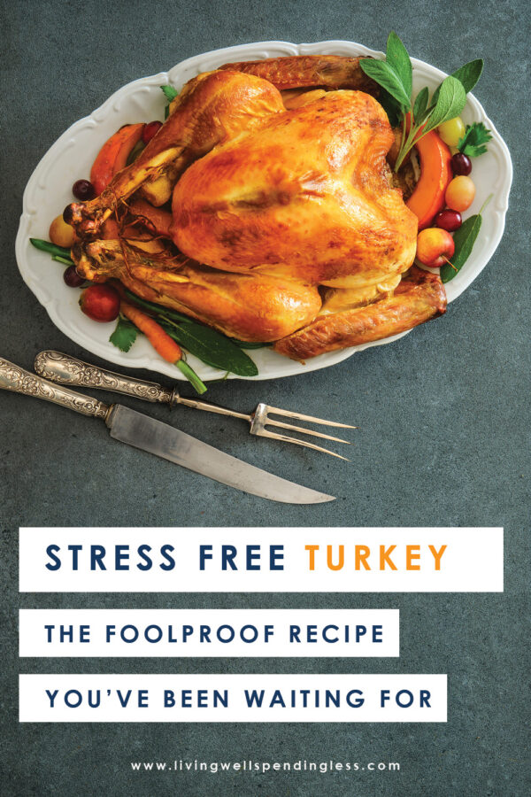 Stressed about Turkey? Help is here! Use this detailed, step-by-step tutorial to walk you through preparing the most perfect moist and juicy roast turkey from start to finish, including the stuffing and the gravy to serve with it. #recipes #holidayrecipes #thanksgivingrecipes #turkeyrecipes