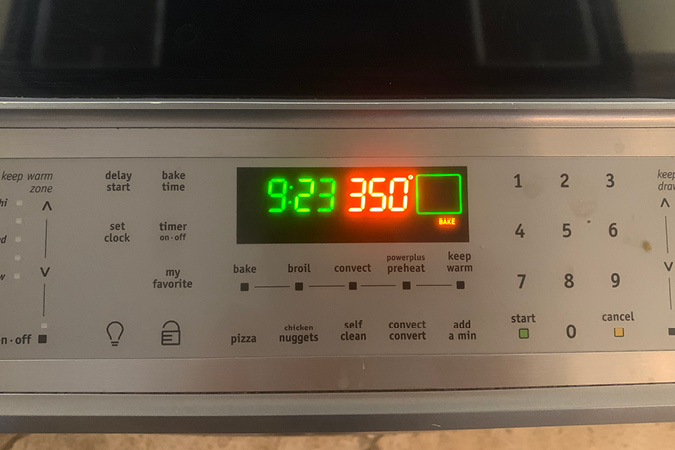 Pre-heat your oven.
