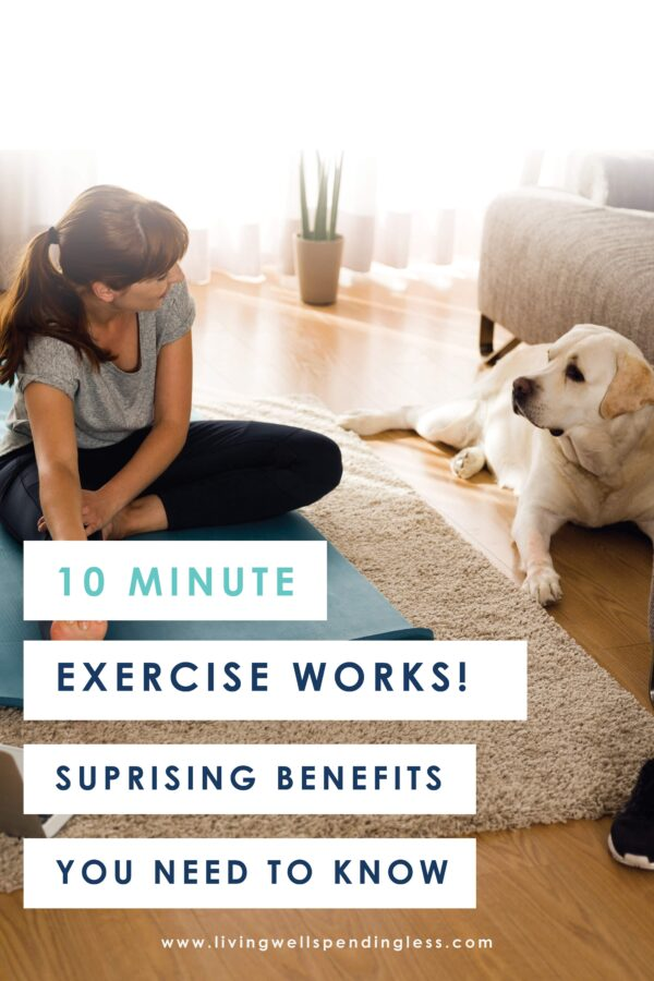 Does the idea of a 30-45 minute workout make you cringe? Well, you can get the SAME RESULTS with only 10 minutes of exercise a day! Here are the surprising benefits of WHY it works! #10minuteworkout #fitness #workouts #hiit #hiitworkout #running #strength #yoga #loveyourworkout