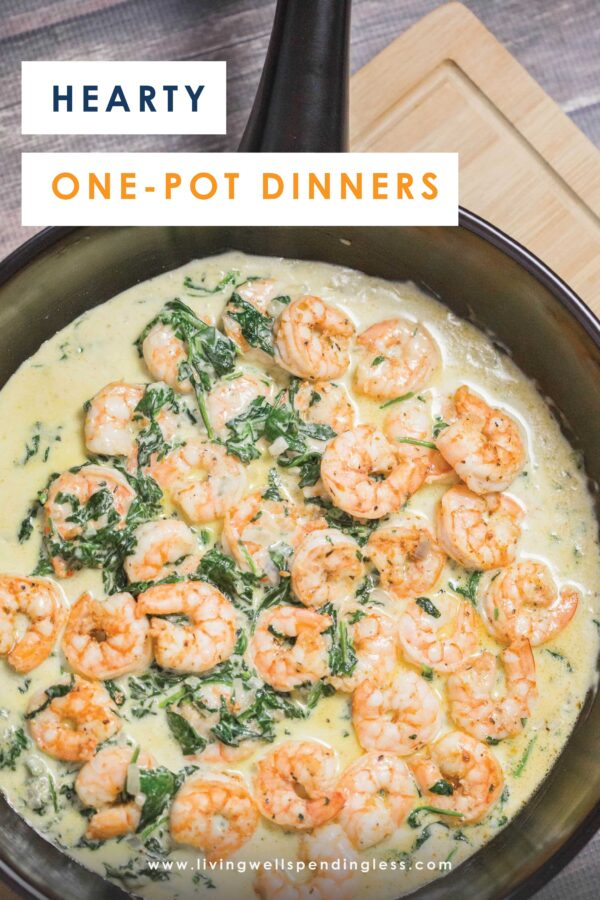 These hearty one-pot dinners are not only super simple to create, but cleaning up will be a breeze. Spend less time in the kitchen and more time hanging out with your family! #recipes #onepotrecipes #5ingredientsorlessrecipes #casserolerecipes #crockpotrecipes #instantpotrecipes #pastarecipes #ketorecipes #dinnerrecipes #familyrecipes #instantpot