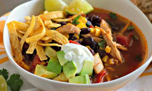 One Pot Chicken Tortilla Soup
