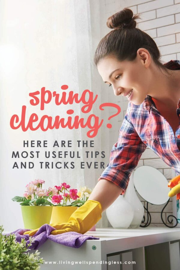 If you're looking for the best Spring Cleaning tips, tricks, and hacks to declutter, deep clean, and freshen up your home, then this is for you! #springcleaning #springcleaningtips #declutter #cleaningtips #decluttering #tidyingup #cleaninghacks
