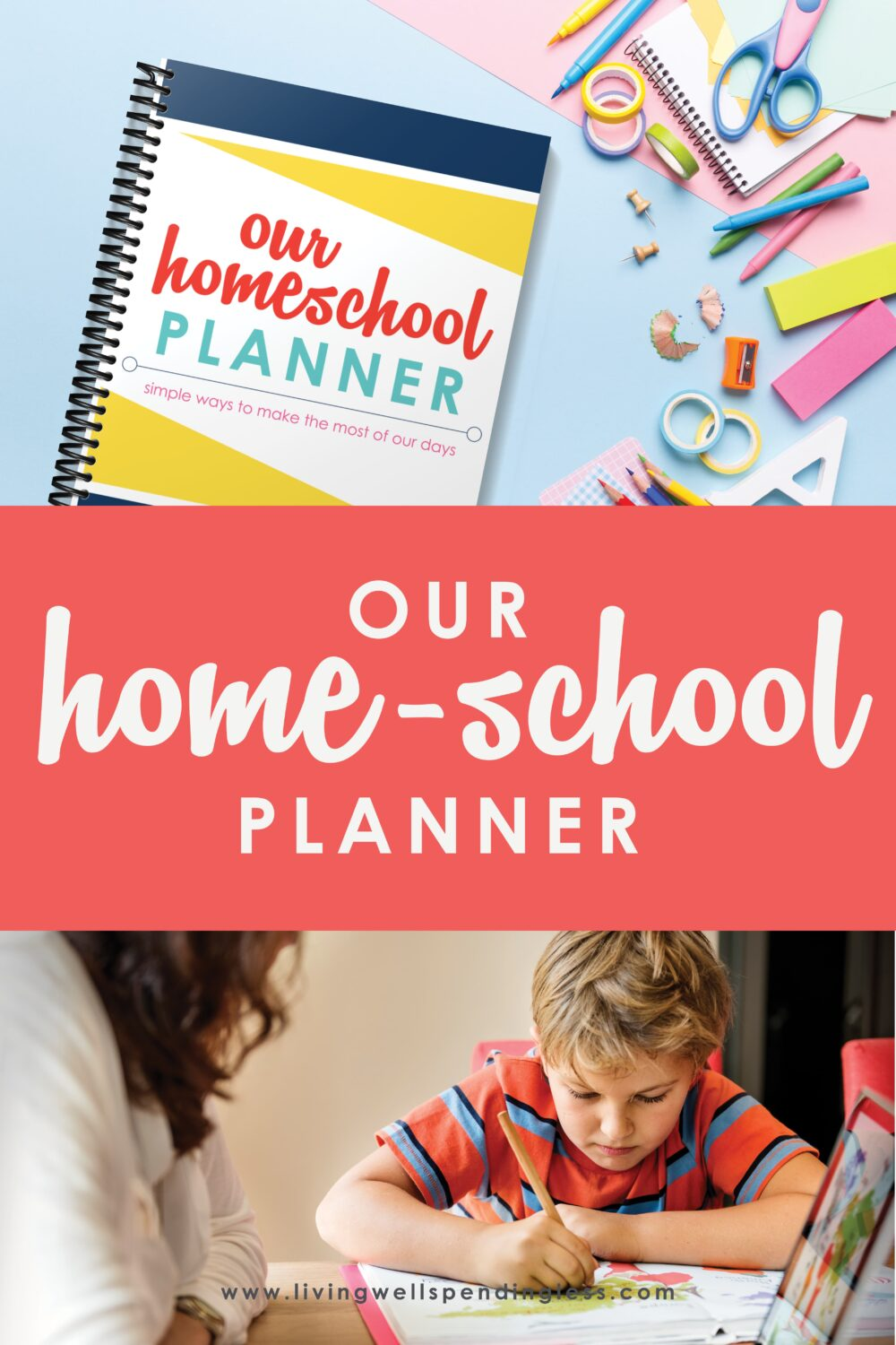 Need a better homeschooling technique to stay organized? This free printable homeschool planner is the perfect tool for planning ahead! #homeschoolplanner #homeschoolingtips #printableplanner #elearning