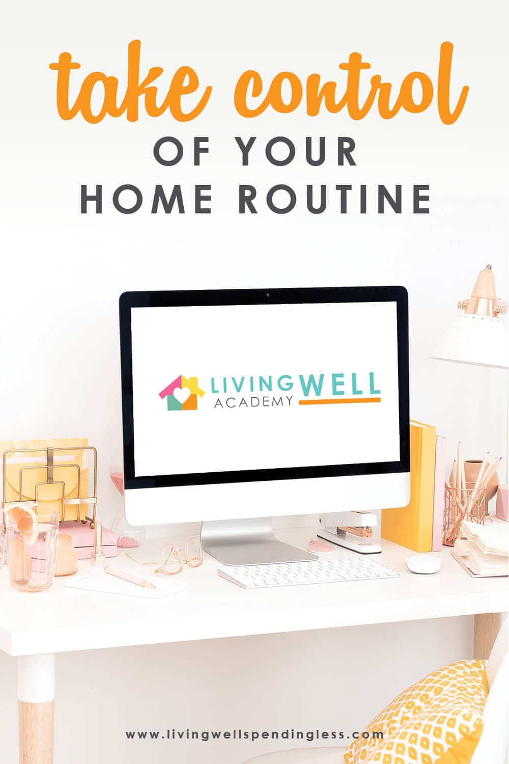 Want to Take Control of Your Home Routine? Don't Miss This! | Living Well Academy The world is a little crazy right now, and with all the stress and uncertainty going around, something to focus on to help you in all areas of life might be exactly what you need. Living Well Academy is a life management course created explicitly to help you feel productive and confident in four key areas: habits and routine, simplifying mealtime, keeping tidy, and mastering money. After this course, you will feel ready to tackle whatever craziness comes your way! Don't miss this first launch that we'll be hosting live! #lifegoals #mastermoney #smartmoney #foodmadesimple #lifemanagement #lifecourse #empowered