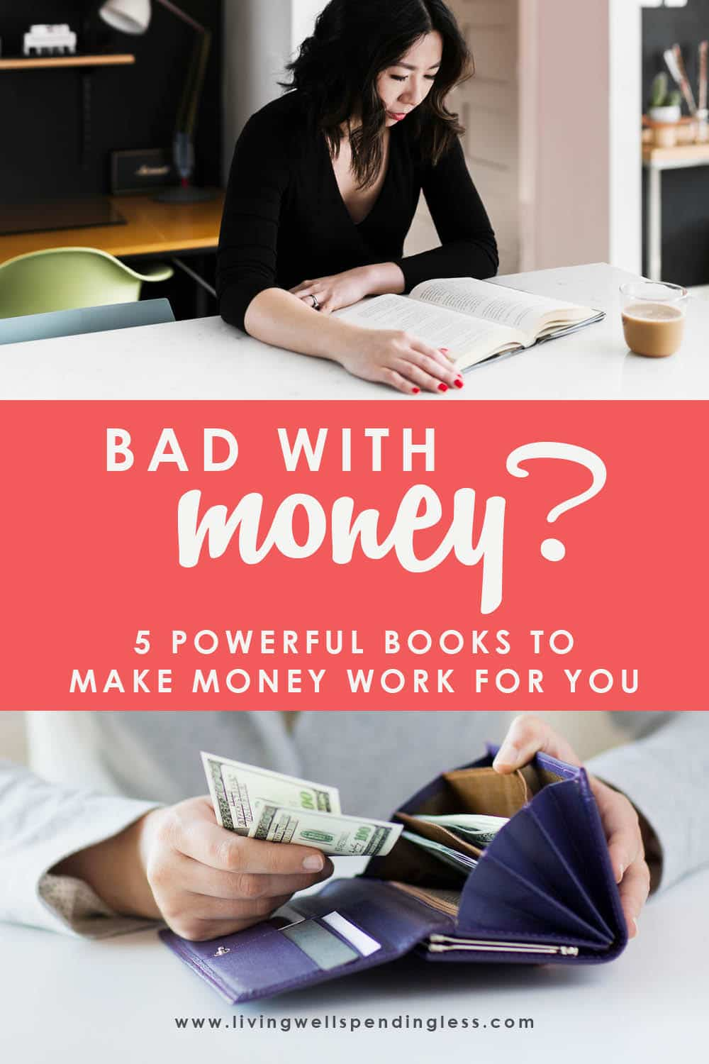 How to Make Your Money Work for You | Top 5 Books to Read Get the solutions and understanding you need to live a financially abundant life! These are the top 5 books to read when it comes to understanding how to make your money work for you. With the right tools and resources, having financial security is possible, so don't miss it! #financialpeace #budgeting #bestbooksonmoney #moneybooks #finances #smartmoney