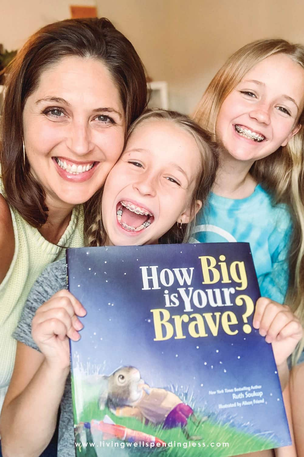 "Ever wish you could help your kids feel more confident or dare to try new things? From bestselling author, Ruth Soukup comes ""How Big Is Your Brave?"", a story with such an important message that empowers children everywhere to move past fear, uncertainty, and disappointment in order to reach their goals and make their dreams come true. Pre-order now to receive three AWESOME book bonuses! #howbigisyourbrave #doitscared #doitscaredmovement #childrensbooks #kidsbooks #books #ruthsoukup #homeschool #homeschoolunitstudy #courage #booksonbravery"