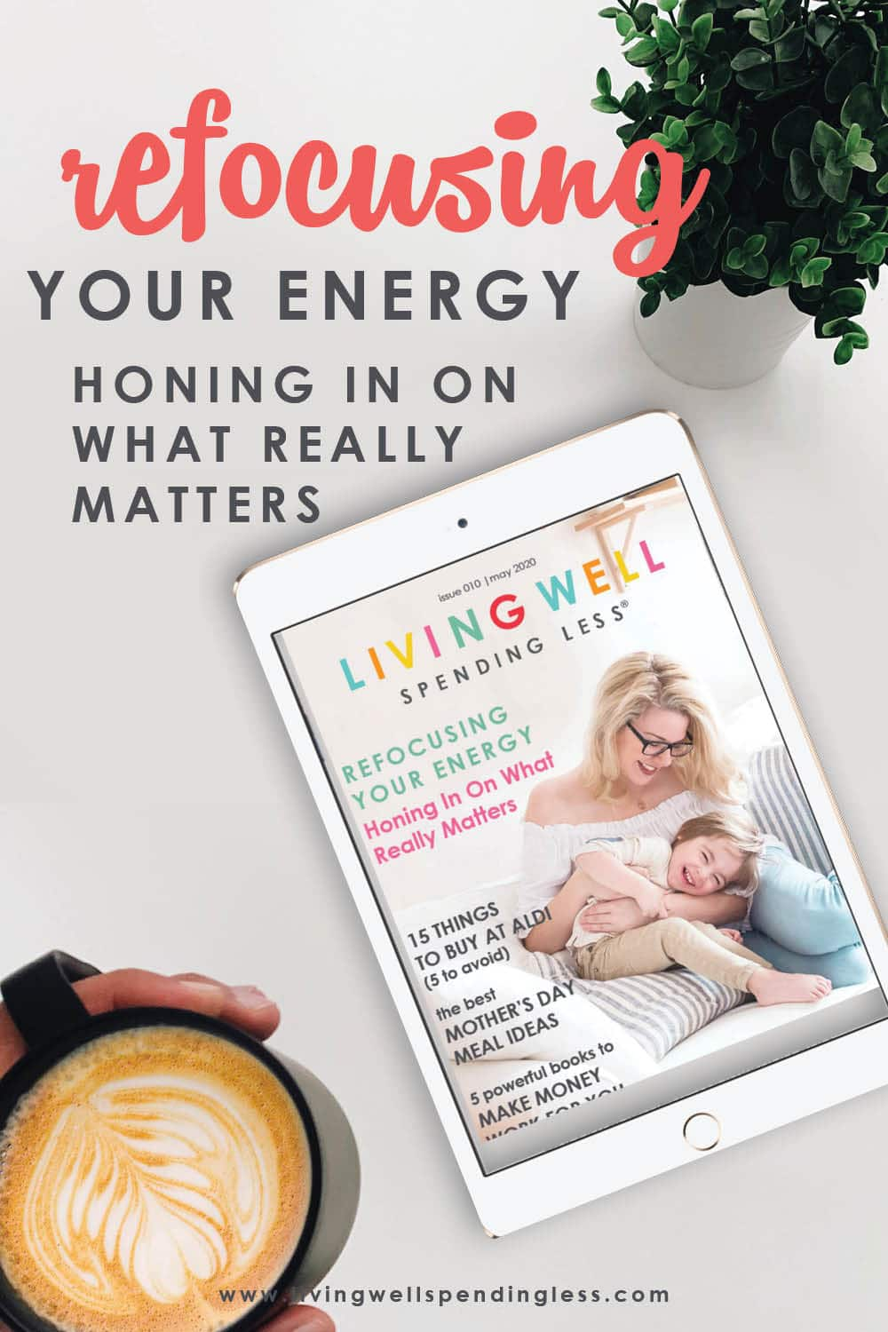 This month we're sharing the best tools that help support you in honing in on what really matters! It's so easy to get caught up in checking off all the things, and always on the go-go-go that we end up losing sight of what it is, we set out to accomplish in the first place. Refocus your energy on the things that matter most to You and crush your life, family, and work goals! #livingwellspendingless #smartmoney #foodmadesimple #life #goalcrusher