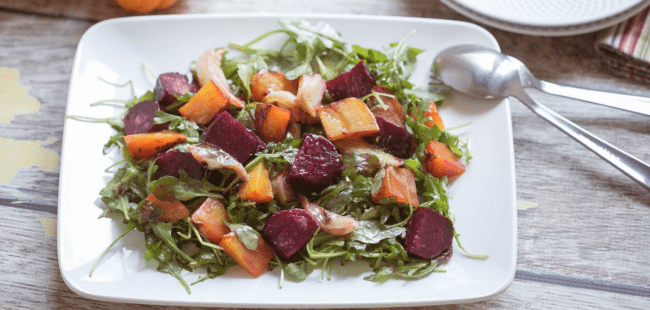 roasted beet and fennel salad perfect light meal for Mother's Day!