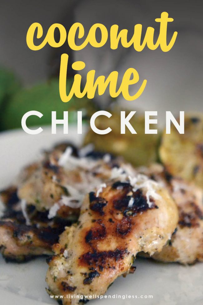 This easy Coconut Lime Chicken is full of flavor but takes just minutes and can be frozen ahead for an effortless summer dinner your family will LOVE!