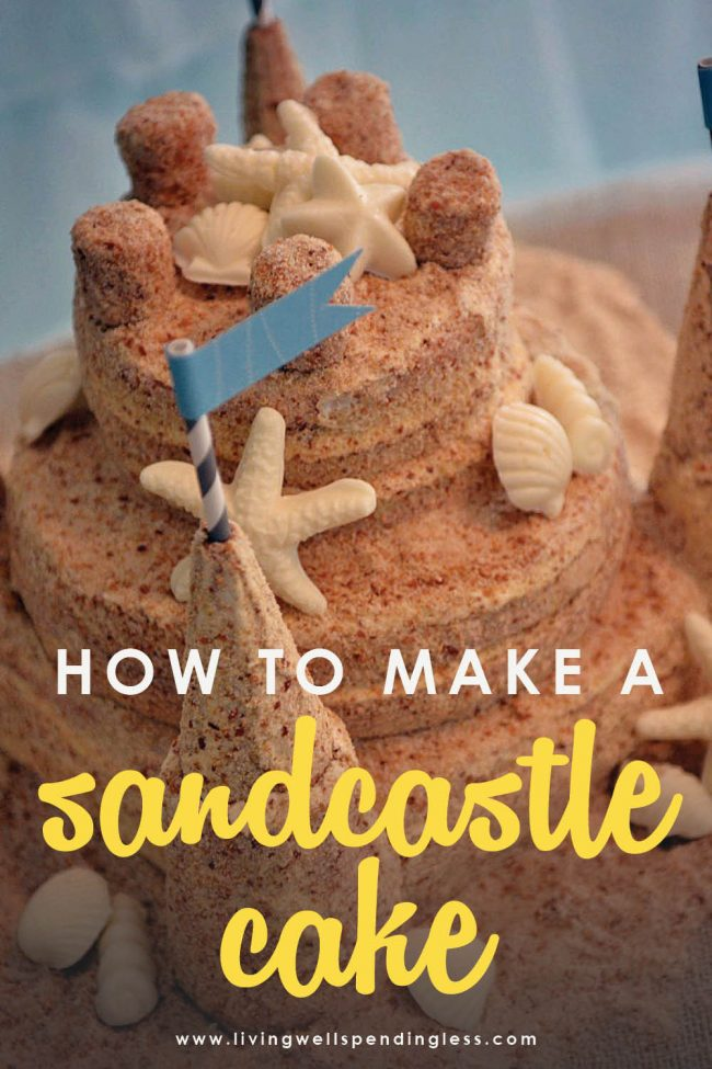 Looking for the cutest beach-themed birthday cake? Here's a super simple step-by-step tutorial on how to make a sandcastle cake that will be a show stopper.
