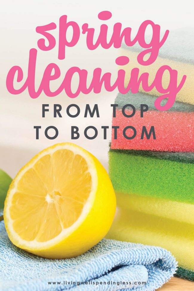 Are you ready to deep clean your house, but have no idea where to start? Our Spring Cleaning Checklist will help you clean your home from top to bottom.