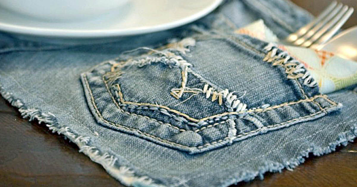 Upcycled Denim Placemats