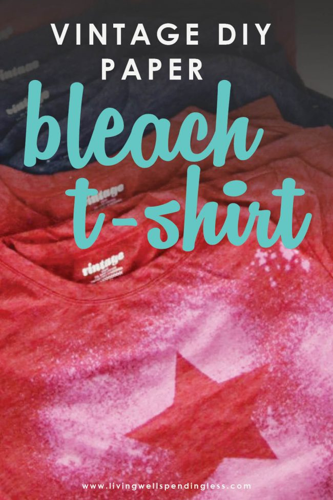Looking for a fun and easy-to-make handmade gift everyone will love? These DIY vintage freezer paper bleach t-shirts are simple and so unique!