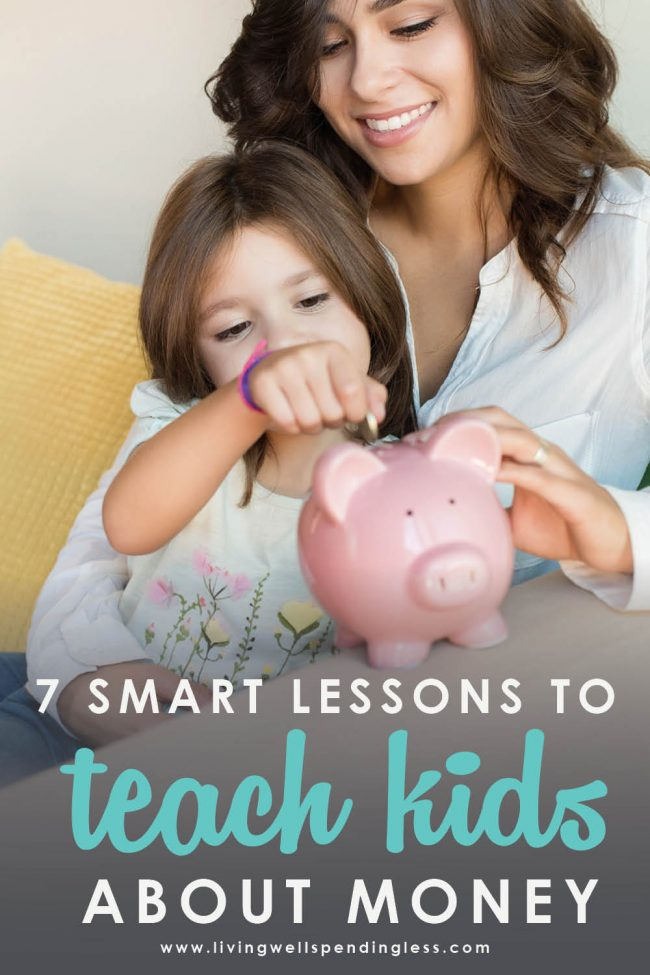 Wondering how to teach kids about money? These 7 smart tips will help your kids form healthy financial habits and learn to save.