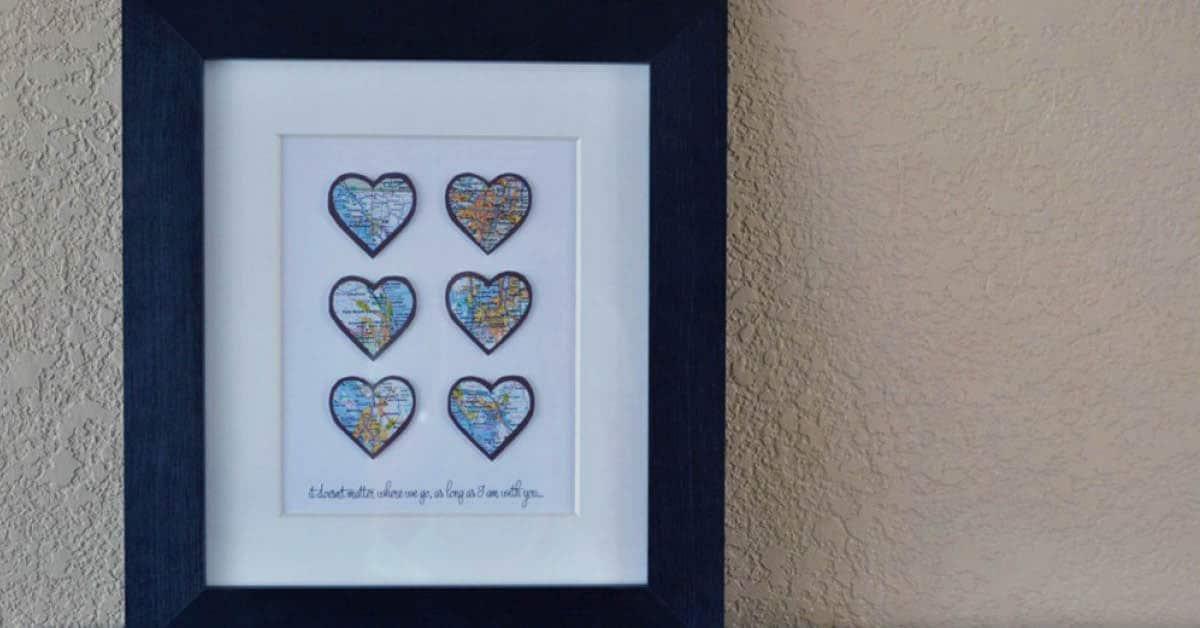 DIY Heart Map Art