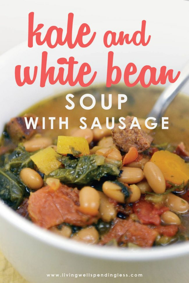 Need a go-to soup for busy days? This flavor-packed soup comes together in minutes then goes straight from the freezer to crockpot for a simple but hearty meal that is ready when you are. Add smoked sausage for extra flavor, or keep it vegetarian--either way, it is one simple recipe you won't want to miss!