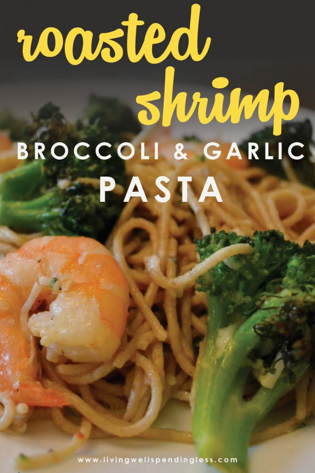 Does your family love pasta? Mine sure does! And this Roasted Shrimp, Broccoli & Garlic Pasta checks all the boxes! It is simple, fast and delicious! And only uses ingredients you probably already have on hand.