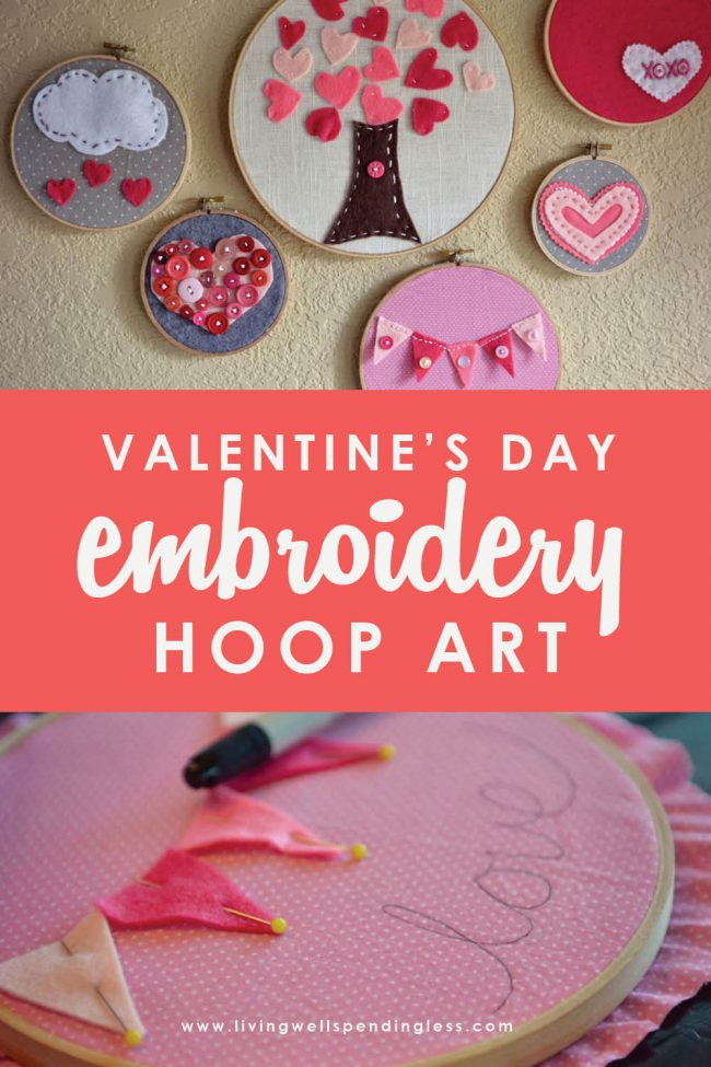 Looking for a Valentine's Day project for kids? This easy DIY embroidery project is adorable, kid-friendly and easy to do with kids of any age.