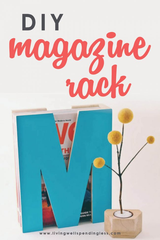 Looking for a unique, custom magazine rack design? This great tutorial will take you step by step through building your own, unique magazine rack.