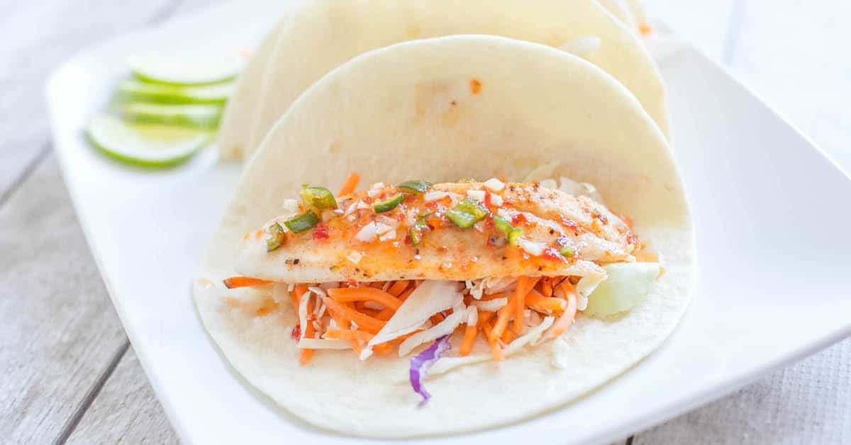 Fish Tacos with Pepper Jelly