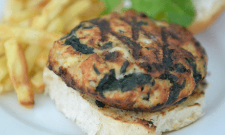 Easy Spinach & Feta Turkey Burgers