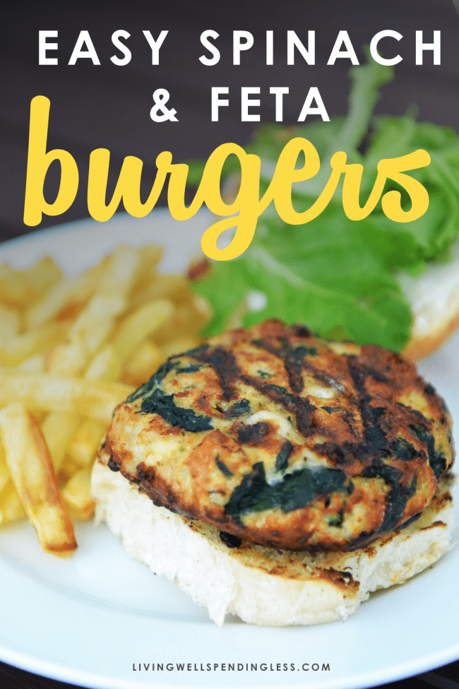 Ready to grill? These flavor-packed spinach & feta turkey burgers can be frozen ahead of time, then thrown straight on the grill to be ready when you are!